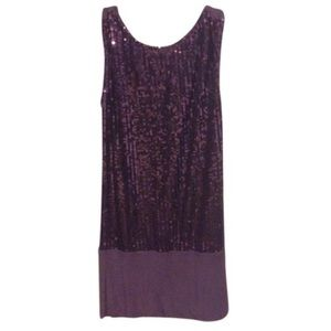 Gracia Fashion Purple Sequin Dress
